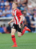 Duncan Watmore of Sunderland during the preseason friendly match between Sunderland AFC and Hartlepool United at Victoria Park on July 20 2016 in...