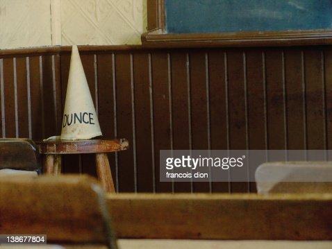 Dunce hat vintage classroom school