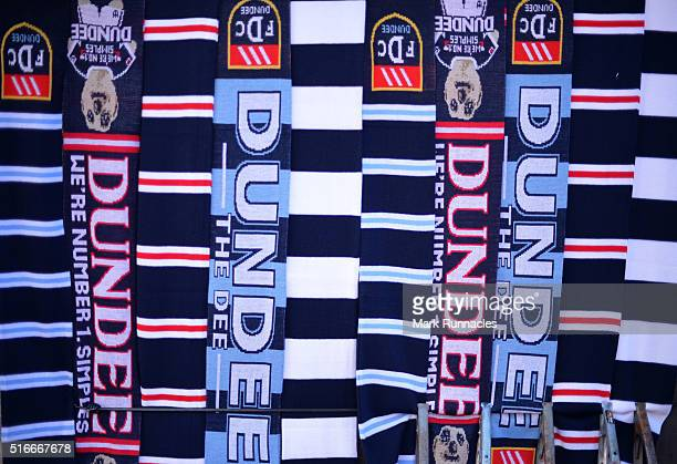 Dundee FC merchandise on sale ahead of the Ladbrokes Scottish Premiership match between Dundee United FC and Dundee FC at Tannadice Park on March 20...