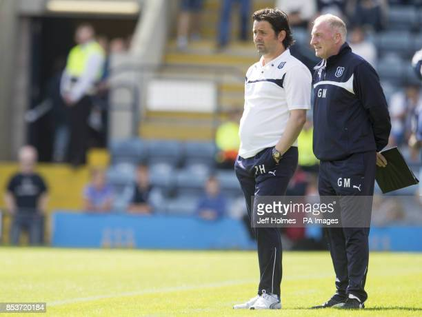 Dundee Paul Hartley and Assistant Gerry McCabe