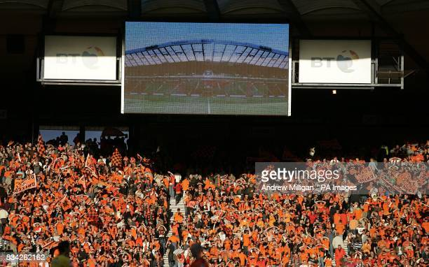 Dundee United fans in the stands at Hampden park