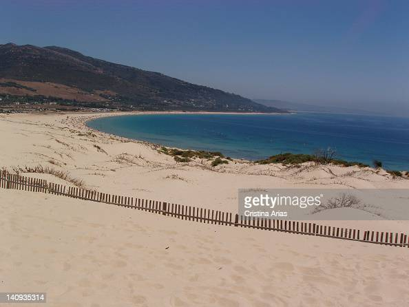 Dune on the beach of Punta Paloma in Tarifa is a dune is formed with the help of easterly winds that carry sand from the beach to the west Cadiz...