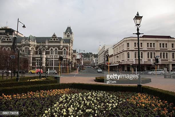 Dunedin city center view in Winter, New Zealand