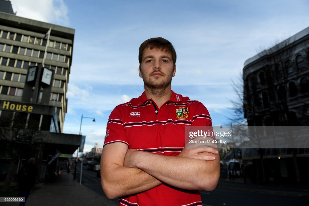 Dunedin , New Zealand - 12 June 2017; Iain Henderson of the British & Irish Lions poses for a portrait following a press conference at the Scenic Hotel Southern Cross in Dunedin, New Zealand.