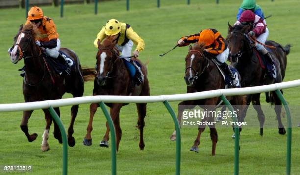 Dunelight ridden by Kieren Fallon leads the field to win the BVI Sail and Stay Median Auction Stakes at Newmarket racecourse Tuesday September 20...