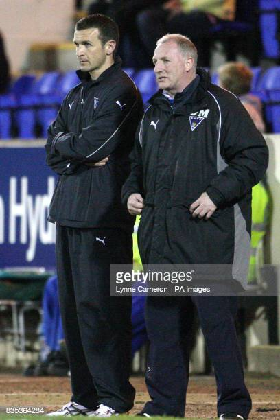 Dunfermline Athletic manager Jim McInytre and his assistant Gerry McCabe together on the touchline