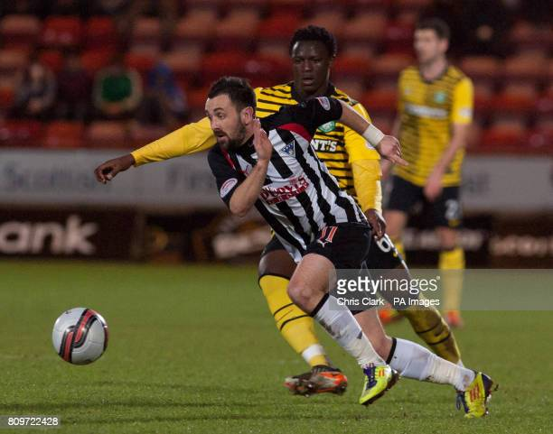 Dunfermline's David Graham takes the ball away from Celtic's Victor Wanyama during the Clydesdale Bank Scottish Premier League match at East End Park...