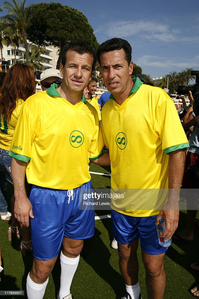 Dunga and Careca during 2006 Cannes Film Festival Brasilian World Cup Winners Photocall at Cannes in Cannes France