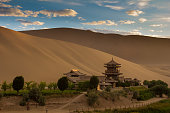 The desert oasis and temple of Dunhuang, China
