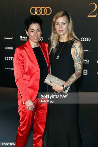 Dunja Hayali and guest attend the 24th Opera Gala at Deutsche Oper Berlin on November 4 2017 in Berlin Germany