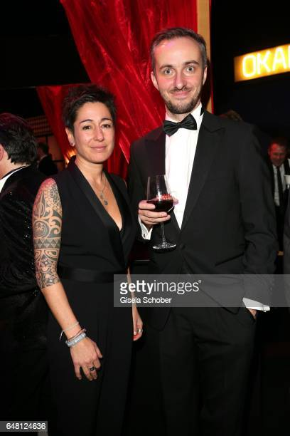Dunja Hayali and Jan Boehmermann during the Goldene Kamera after show party at Messe Hamburg on March 4 2017 in Hamburg Germany