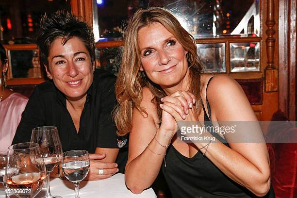 Dunja Hayali and Kim Fisher attend the Udo Walz Celebrates His 70th Birthday at BAR jeder Vernunft on July 28 2014 in Berlin Germany