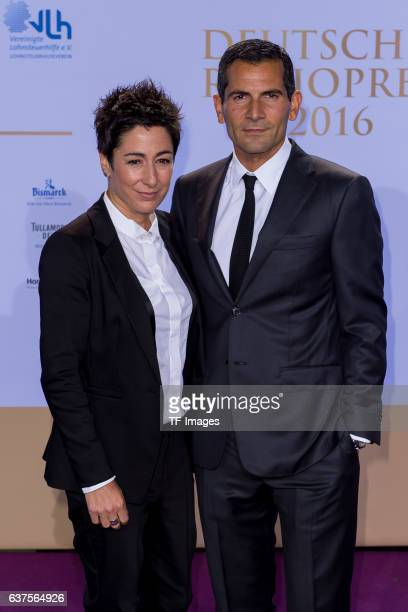 Dunja Hayali and Mitri Sirin attend the Deutscher Radiopreis 2016 on October 6 2016 in Hamburg Germany