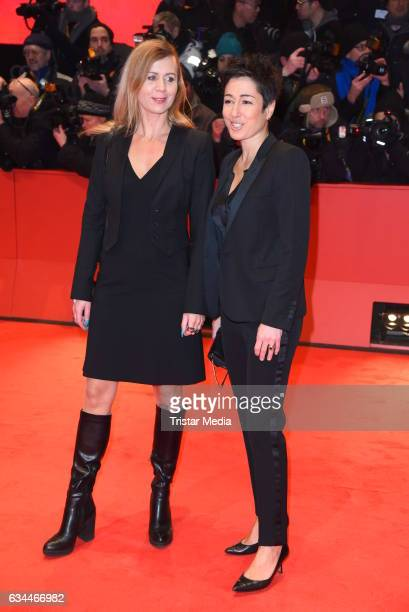 Dunja Hayali and Pamela Schobess attend the 'Django' Premiere 67th Berlinale International Film Festival on February 9 2017 in Berlin Germany