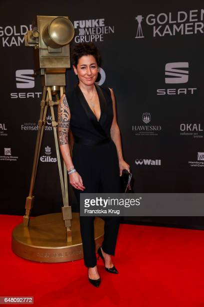 Dunja Hayali arrives for the Goldene Kamera on March 4 2017 in Hamburg Germany