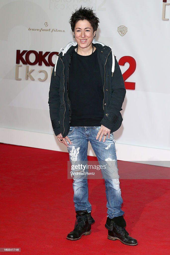 Dunja Hayali attends 'Kokowaeaeh 2' - Germany Premiere at Cinestar Potsdamer Platz on January 29, 2013 in Berlin, Germany.