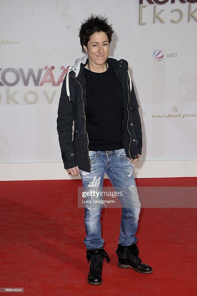 Dunja Hayali attends 'Kokowaeaeh 2' Germany Premiere at Cinestar Potsdamer Platz on January 29, 2013 in Berlin, Germany.