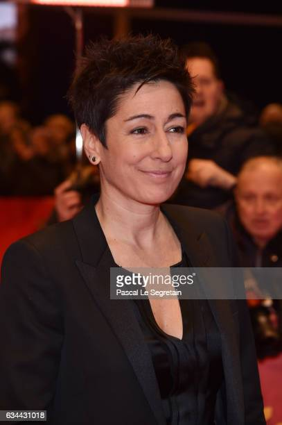 Dunja Hayali attends the 'Django' premiere during the 67th Berlinale International Film Festival Berlin at Berlinale Palace on February 9 2017 in...
