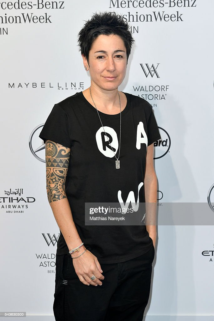 Dunja Hayali attends the Guido Maria Kretschmer show during the Mercedes-Benz Fashion Week Berlin Spring/Summer 2017 at Erika Hess Eisstadion on June 29, 2016 in Berlin, Germany.