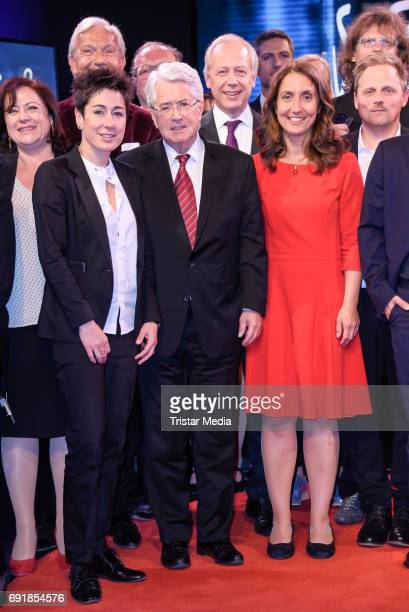 Dunja Hayali Frank Elstner Tom Buhrow and Schiwa Schlei attend the CIVIS Media Award 2017 on June 1 2017 in Berlin Germany