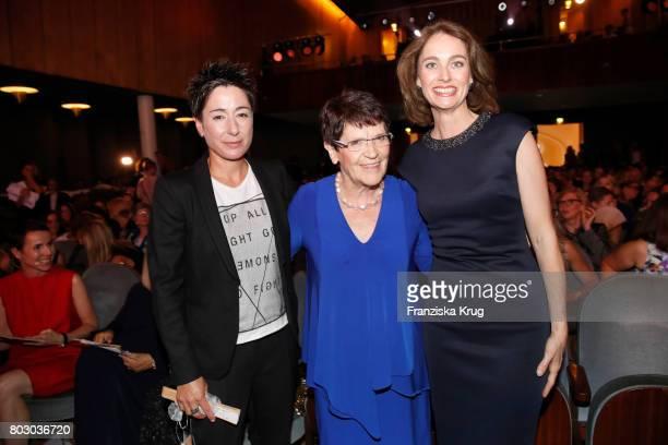 Dunja Hayali Rita Suessmuth and Katarina Barley attend the Emotion Award at Laeiszhalle on June 28 2017 in Hamburg Germany