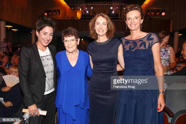 Dunja Hayali Rita Suessmuth Katarina Barley and Katarzyna MolWolf attend the Emotion Award at Laeiszhalle on June 28 2017 in Hamburg Germany