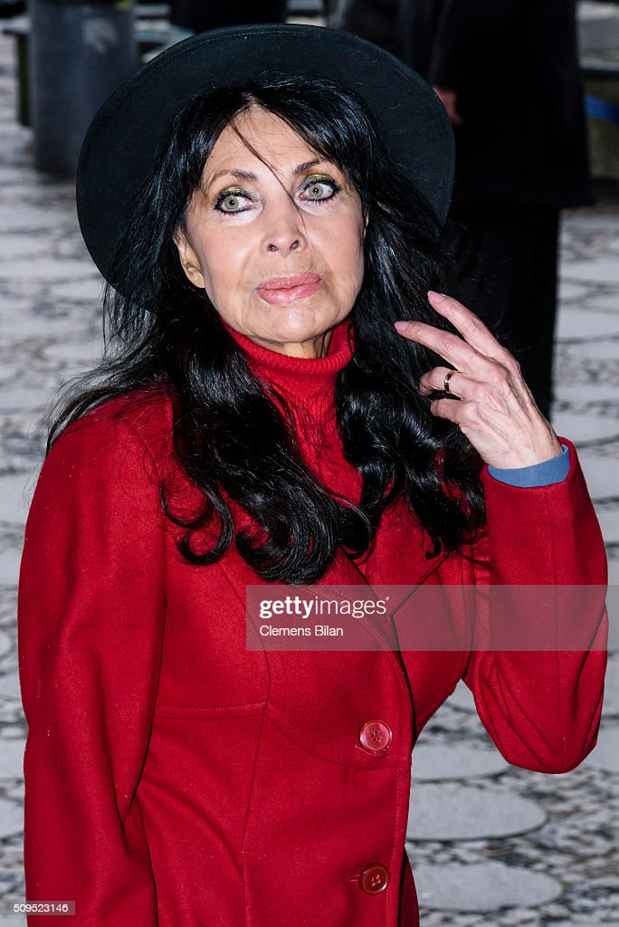 Dunja Rajter attends the Wolfgang Rademann memorial service on February 11, 2016 in Berlin, Germany.