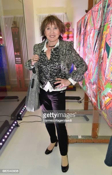 Dunja Siegel during 'Maximilian Seitz EinwicklungenImpressionismusFest im Orient' Exhibition Opening at Susanne Wiebe Fashion Store on May 11 2017 in...
