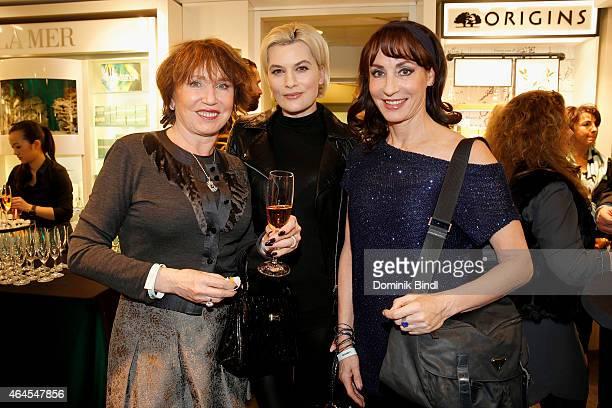 Dunja Siegel Kriemhild Maria Siegel and Anna Maria Kaufmann attend the Douglas Cosmopolitan Celebrate After Prix de Beaute Event on February 26 2015...