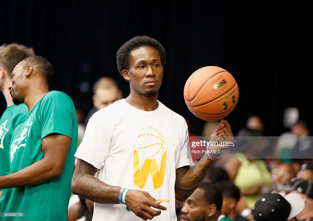 Dunk artist Brandon Lacue participates in the celebrity basketball game presented by Sprite during the 2016 BET Experience on June 25, 2016 in Los Angeles, California.
