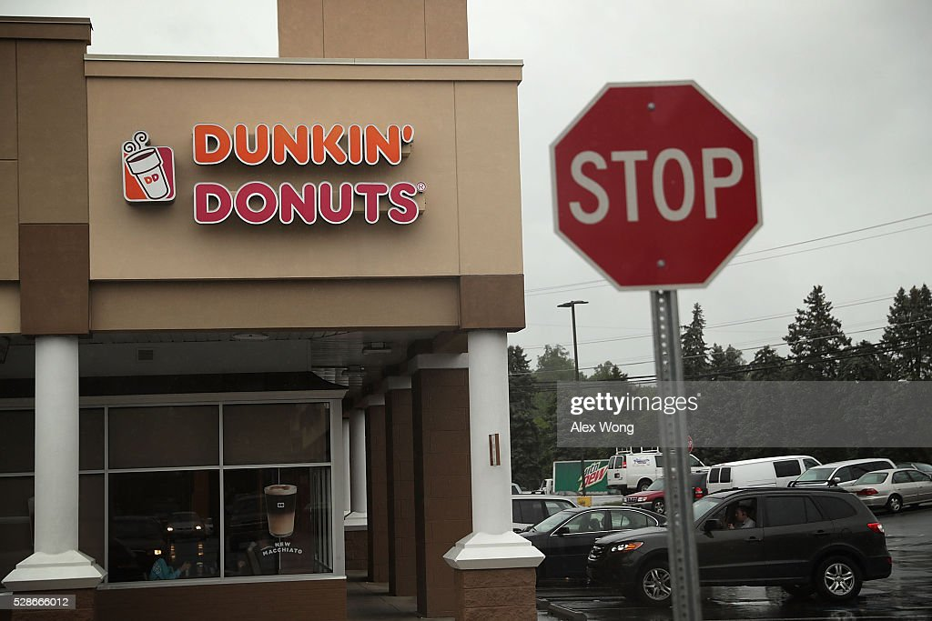 A Dunkin Donuts is seen May 6, 2016 at Northgate Plaza in Aspen Hill, Maryland. A shooting suspect was spotted within the coffee shop after a couple deadly shootings in which two people were killed and two injured in two separate shootings in Montgomery County, Maryland.