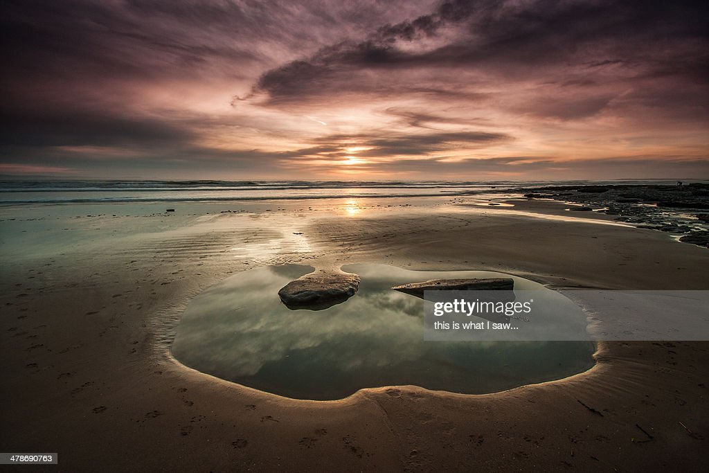 Dunraven sunset : Stock Photo