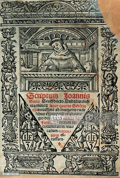 Duns Scotus Philosophertheologians of the High Middle Ages Scholasticism school 'Scriptum Joannis Duns Scoti docto subtilis ordinis minor super...