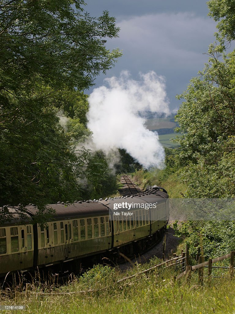 Dunster castle express : Stock Photo