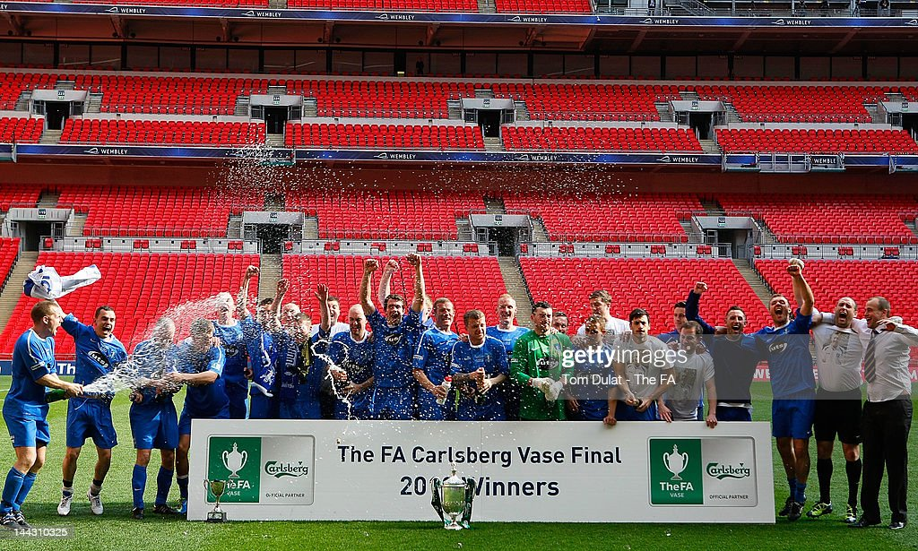 Dunston UTS celebrate after winning The FA Carlsberg Vase Final between Dunston UTS and West Auckland Town at Wembley Stadium on May 13, 2012 in London, England.