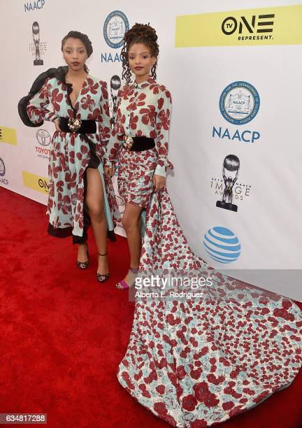 Duo Chloe X Halle attend the 48th NAACP Image Awards at Pasadena Civic Auditorium on February 11 2017 in Pasadena California