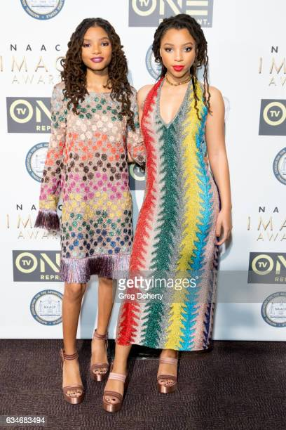 B duo Chloe x Halle attend the 48th NAACP Image Awards NonTelevised Awards Dinner at the Pasadena Convention Center on February 10 2017 in Pasadena...