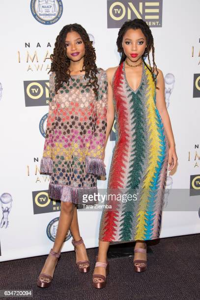 B duo Chloe x Halle attend the 48th NAACP Image Awards NonTelevised Awards Dinner at Pasadena Convention Center on February 10 2017 in Pasadena...