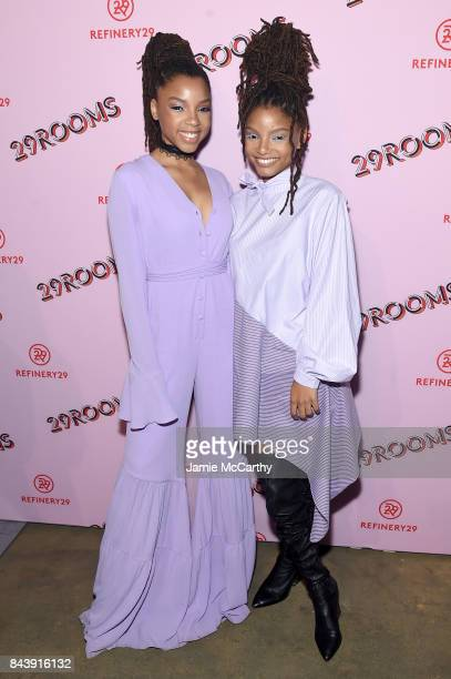 B duo Chloe X Halle attends the Refinery29 Third Annual 29Rooms Turn It Into Art event on September 7 2017 in the Brooklyn borough of New York City...