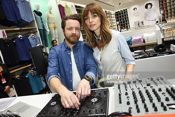 DJ duo Dapayk Padberg during the Uniqlo PreOpening Party on April 10 2014 in Berlin Germany