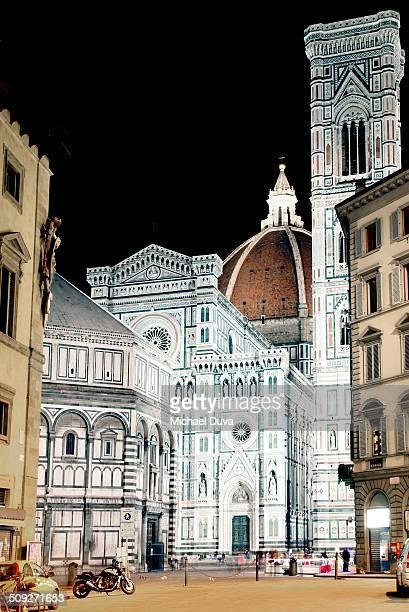 Duomo cathedral and Piazza, night