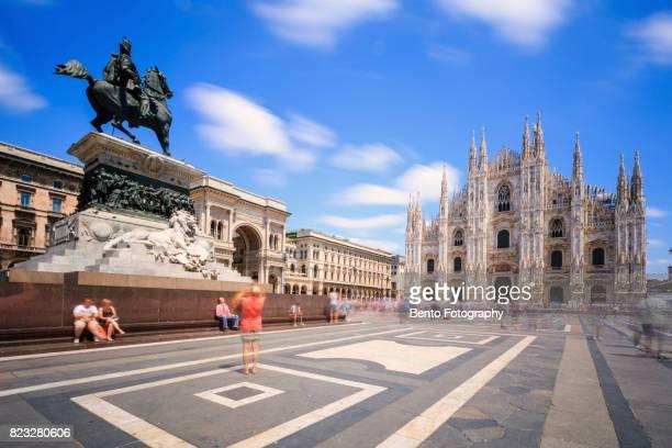 18/07/2017 Duomo, Milan, Italy : Tourists in front of duomo, Milan, Italy