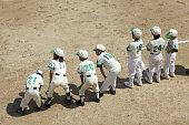 Duplicate boy baseball player