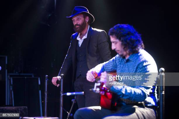 Duquende and Jose Andres Cortes perform on stage at Sala Apolo on March 24 2017 in Barcelona Spain