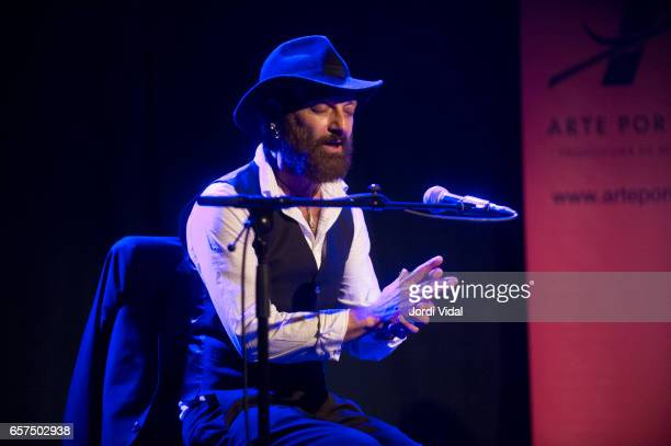 Duquende performs on stage at Sala Apolo on March 24 2017 in Barcelona Spain
