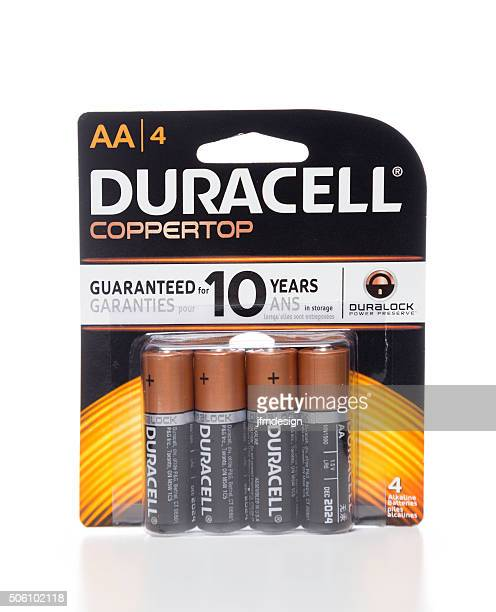Duracell AA coppertop 4 batteries package