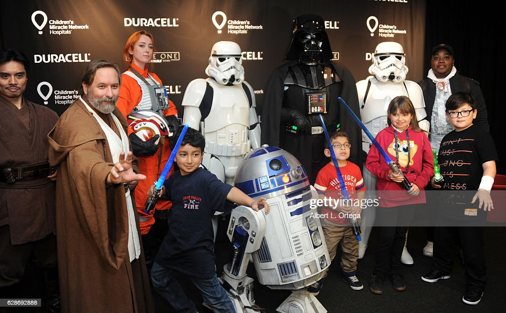 Duracell celebrates its 1 million battery donation to Children's Miracle Network Hospitals nationwide by joining forces with Lucasfilm and 'Rogue One: A Star Wars Story' to transform Children's Hospital Los Angeles into a galactic playground on Dec 8, 2016 powering imagination for those who need it most held at Childrens Hospital Of Los Angeles on December 8, 2016 in Los Angeles, California.