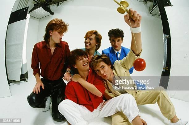 Duran Duran at photo studio in Tokyo May 2 1982