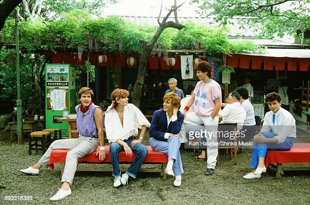 Duran Duran at teahouse in Atagoyama Tokyo May 2 1982