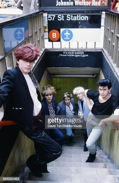 Duran Duran at the entrance of NY subway NYC September 1981